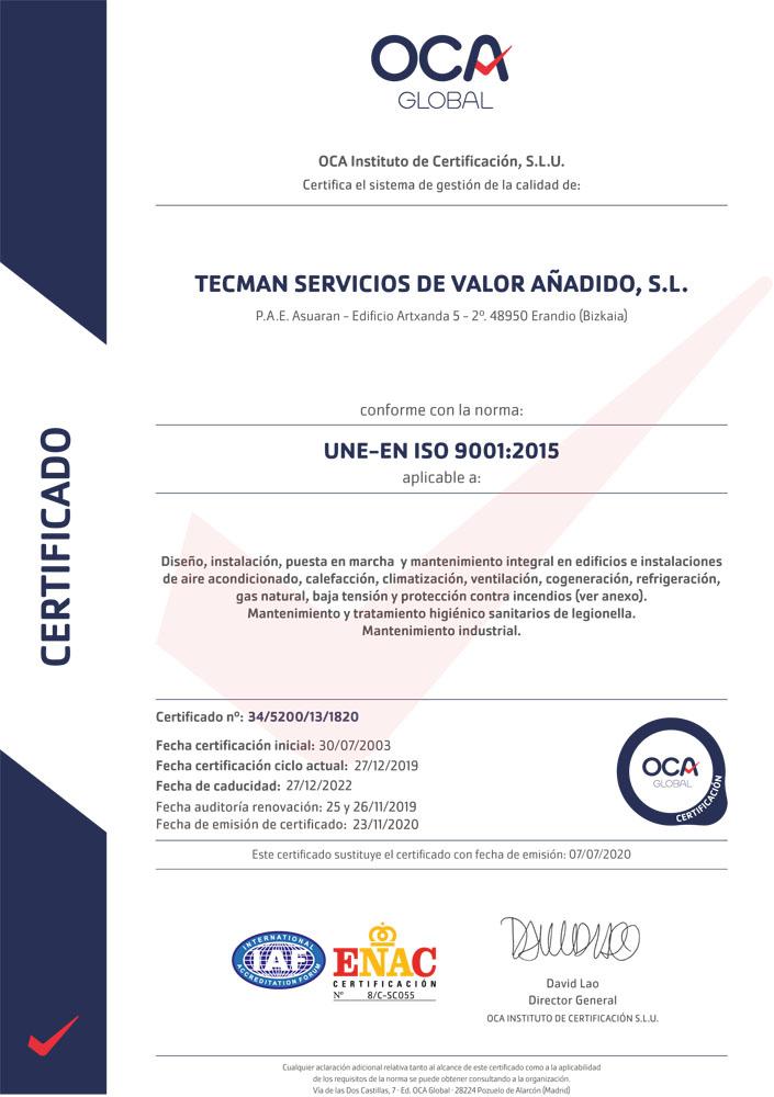 OCA 9001
